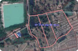 LP62010017-Land for sale in Nong Khai, good location, good investment, cheap price, 17 rai, 3 ngan, 51 sq.w.