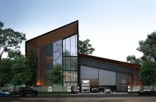 WH63070011-Sell warehouse with office, Factory Yard Lam Luk Ka (Factory D) # Modern style factory warehouse